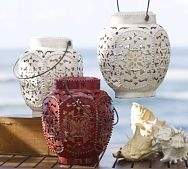 Elise Punch Lanterns @ Pottery Barn......beautiful!: Punch Lanterns, Punch Ceramics, Outdoor Patio, Elie Punch, Barns Elis, Ceramics Lanterns, Lanterns Potterybarn, Pottery Barns, Elis Punch