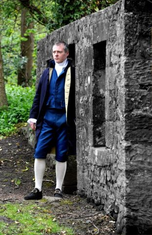 Allan Burnett as James Watt at Kinniel h|House, Boness.