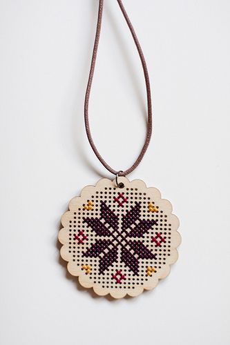 laser cut wooden cross stitch template thing