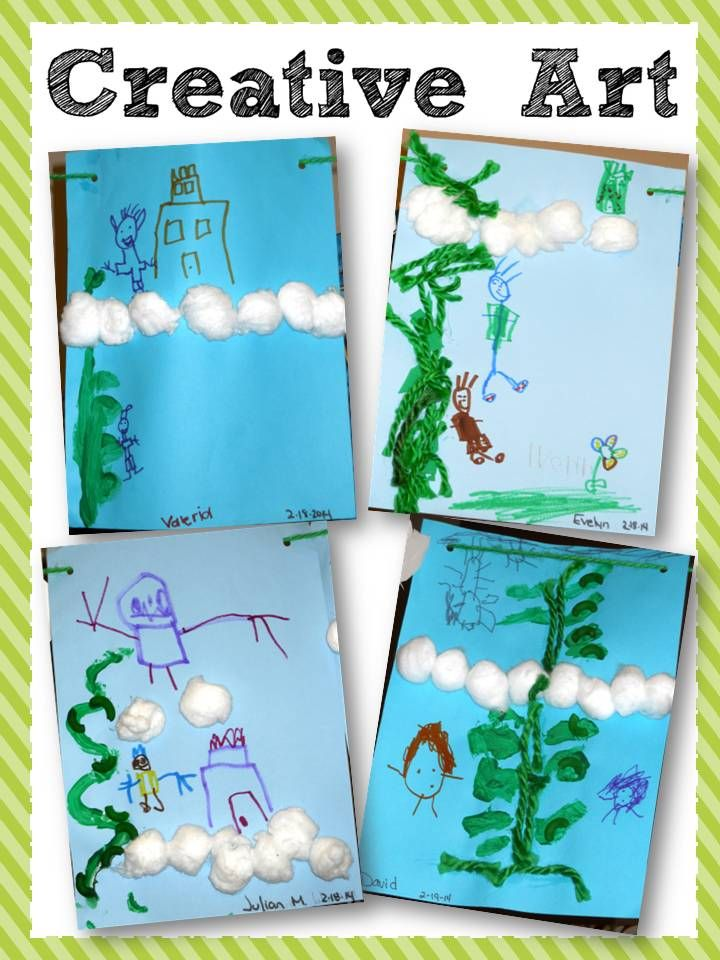 Building comprehension through art.  Jack and the Beanstalk.