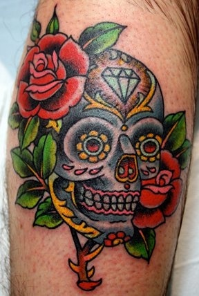108 best sugar skull tattoos images on pinterest skull tattoos mexican skulls and sugar scull. Black Bedroom Furniture Sets. Home Design Ideas
