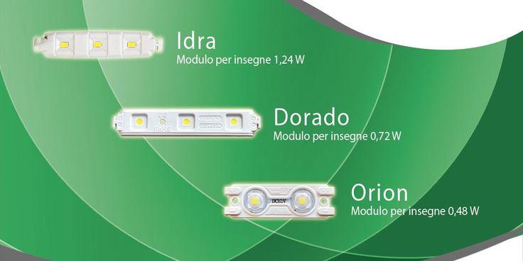 I nostri moduli LED per insegne luminose - www.logicsun.it