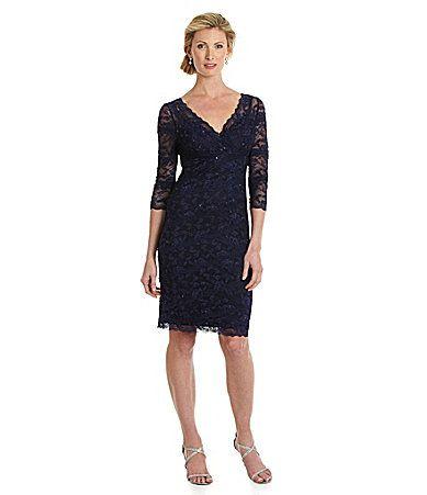 Marina vneck lace dress dillards food pinterest for Dillards wedding dresses mother of the bride