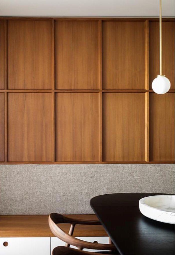Inspiration Dining Room Timber Wall Details Est Living Timber Walls Wood Interiors Modern Interior