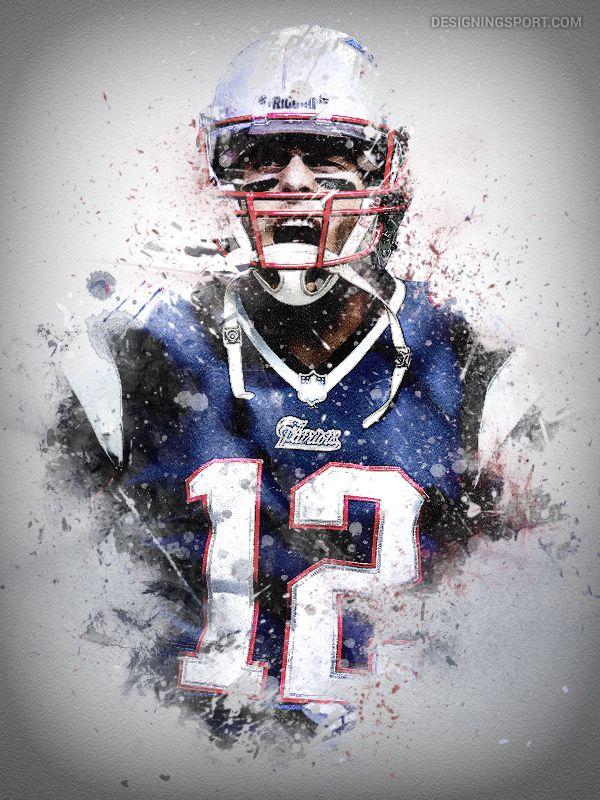 Tom Brady, New England Patriots @ designingsport.com