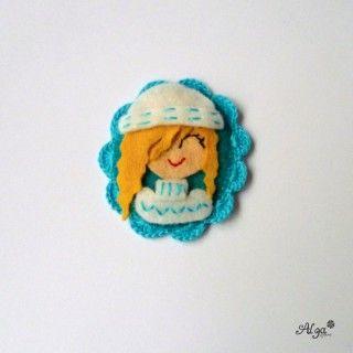 Brož Zimní Blondýnka