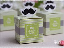 "Bruiloft gunst candy box-""Mijn Kleine Man"" Gunst Dozen Baby Shower Party zoete…"