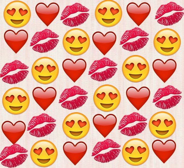 heart, lips, love, red, wallpaper, emojis Emoji ...