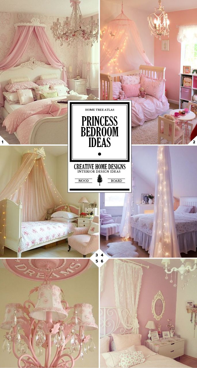 Bedroom wall designs for women - A Magical Space Princess Bedroom Ideas