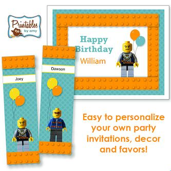 Lego..: Birthday Lego, Bdays Lego, Birthday Parties, Lego Printables Lego, Lego Parties Aiden, Lego Party, Printables Lego Robotics, Lego Birthday Party