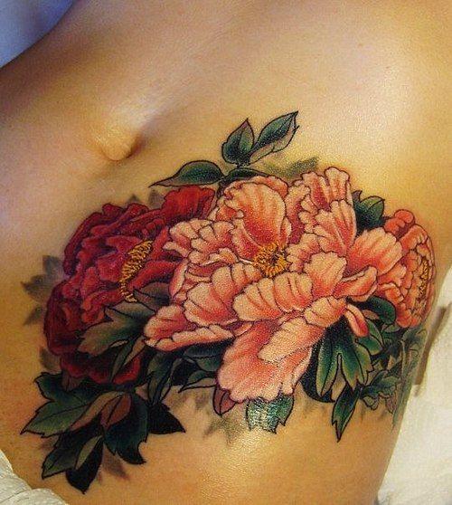 floral tattoo love