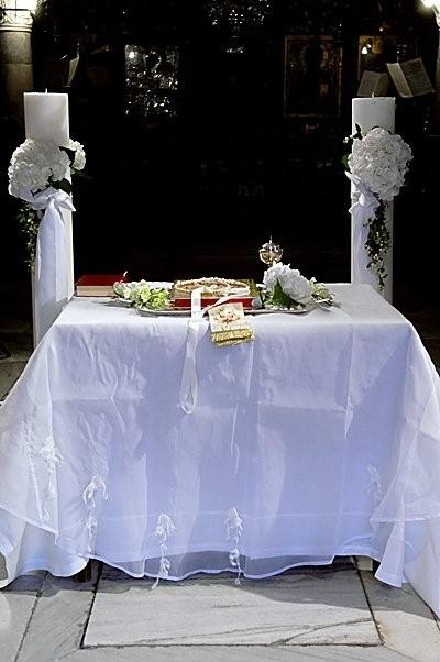 Ceremony Table for a Christian Orthodox Wedding