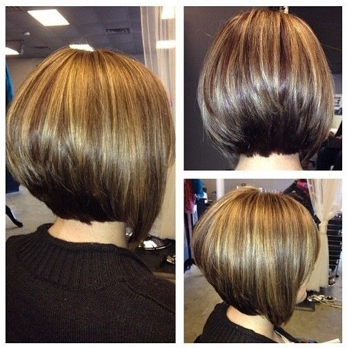 Classic Stacked Medium Bob Haircut: Women Hairstyles Ideas