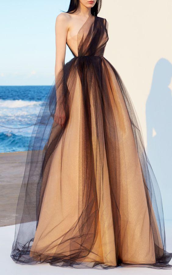 Une épaule robes de bal, robes de soirée longues, robe de soirée officielle e…