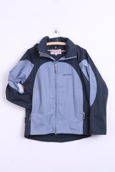 Spraway Womens 12 L Jacket Hood Nylon Waterproof Grey Sport Hydro/dry - RetrospectClothes