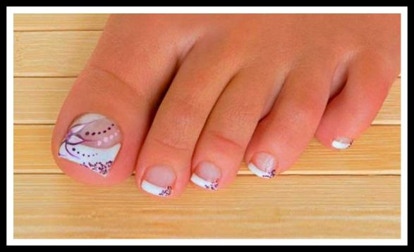 Resultado de imagen para uñas decoradas pies faciles ...