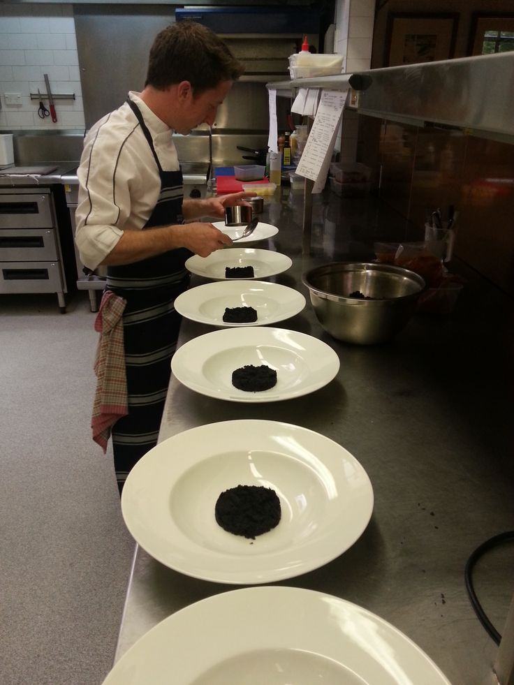Chef Paul busy preparing a great meal for the Parkinsons Charity Lunch.
