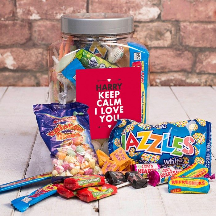Personalised Retro Sweet Jar - Favourite Sweets | GettingPersonal.co.uk