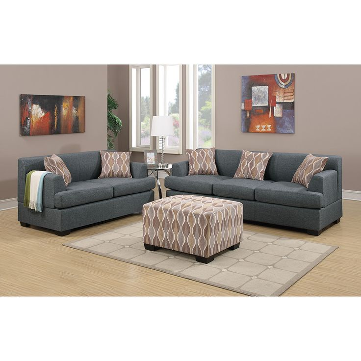 Poundex Bobkona Baldwin Sofa And Loveseat Set & Reviews | Wayfair