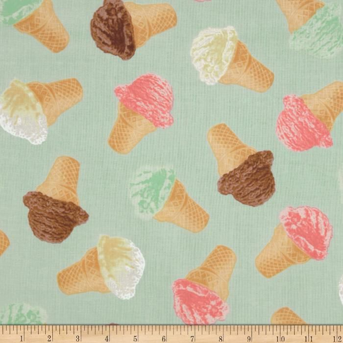 Retro Icecream Fabric