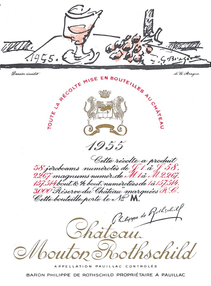 Chateau Mouton Rothschild 1955, by Georges Braque