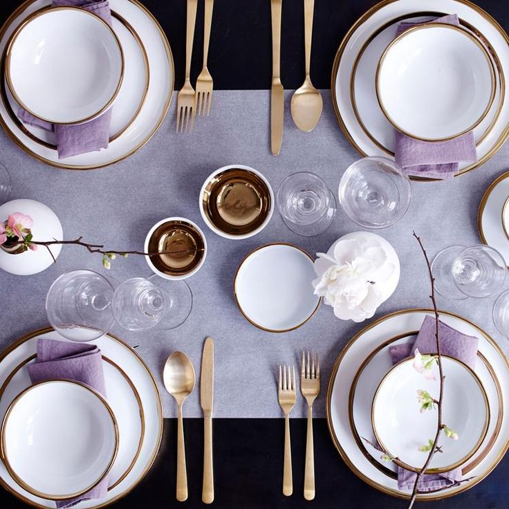 We love the Dauville Collection! A contrast between a creamy textured finish and a bold metallic glaze yields a unique harmony of glamour and subtlety. Perfect for entertaining your guests with artisan sophistication and poise!