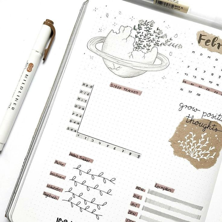 Top 12 Brown Bullet Journal Spreads from March!
