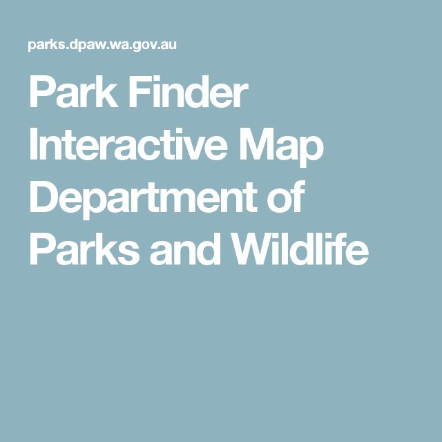 Park Finder Interactive Map  Department of Parks and Wildlife