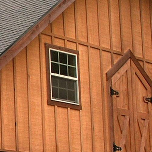 Rough Sawn Fir Sheeting With Cedar Battens Exterior