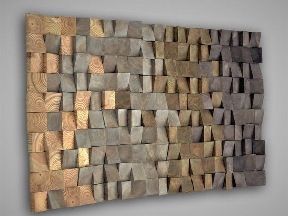 Wooden Mosaic Wall Decor Texture Wood Wall Art Wall Hanging 3d