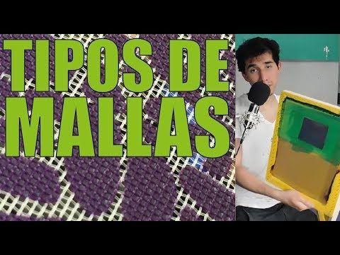 15 TIPOS DE MALLAS Y TIPOS DE TINTAS - DIFERENCIA ENTRE MALLAS ABIERTAS Y CERRADAS - SERIGRAFIA - YouTube