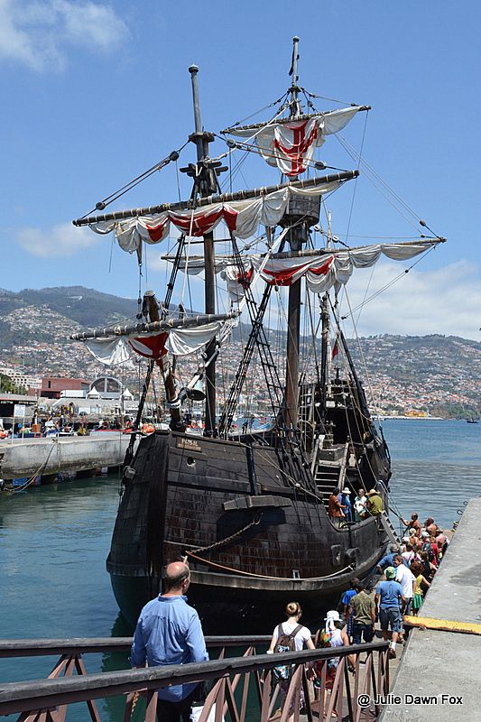 Santa Maria de Colombo replica ship, Funchal, Madeira, Portugal ~ #wellnesssisters | #madeira #travel #guide #santa #maria #replica #ship #colombo