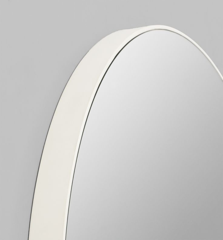 Flynn round mirror white 50 80 100 vdp guest bedroom for Mirror 80 x 50