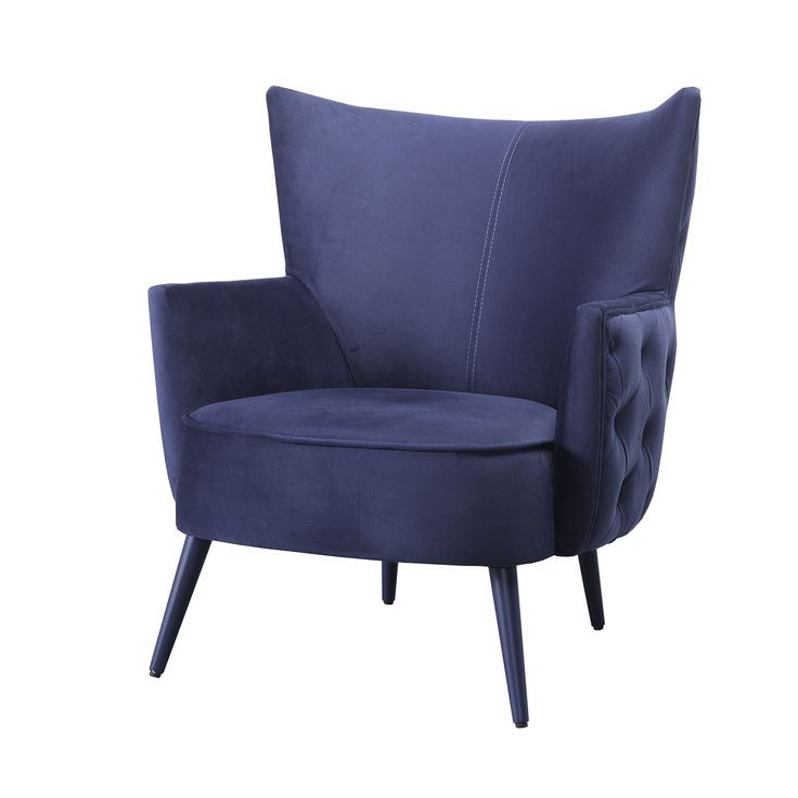 Uiara Armchair | Laskasas | Decorate Life | www,laskasas.com | Living Room Decor Ideas | Uiara is an upholstered armchair, involved in Turkish Sea Blue fabric and with capitone on the back. This modern design has lacquered feet and its perfect for a relaxation time at home.