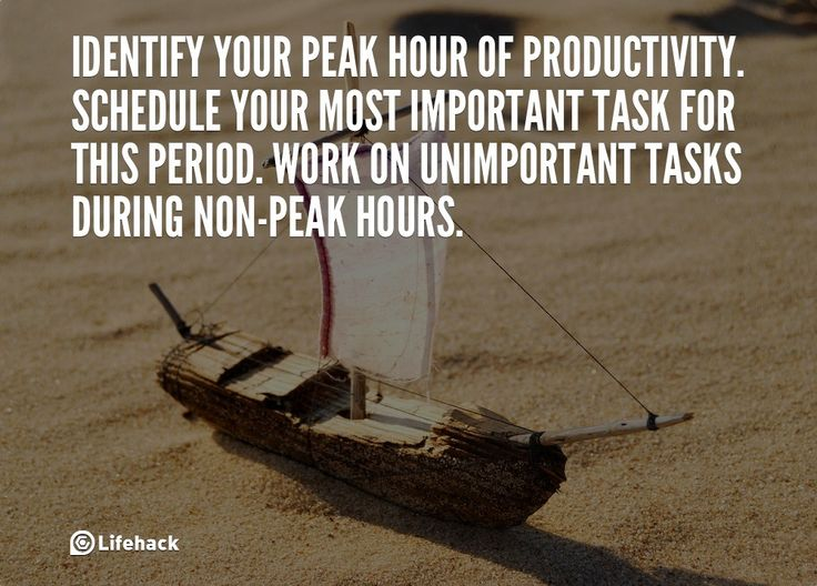 30sec Tip: Identify Your Peak Hour of Productivity