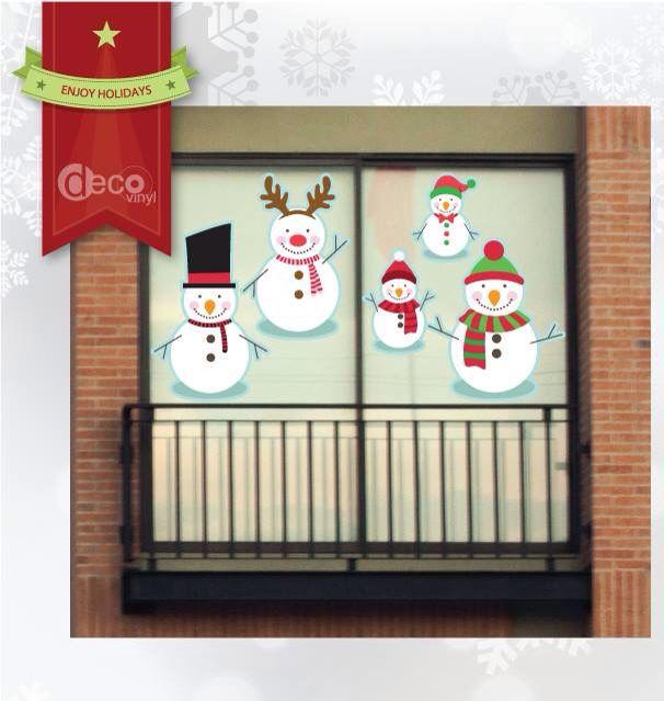 Vinilo Decorativo Ref: Snowmen