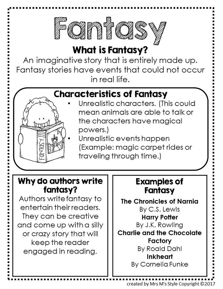 Fantasy Genre Anchor Chart