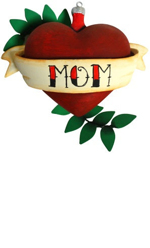 Mom heart tattoo ornament! :D: Mom Heart, Tattoo Xmas, Mom Tattoos, Xmas Ornaments, Perfect Ornament, Holiday Stuff, Heart Tattoos, Holiday Magic