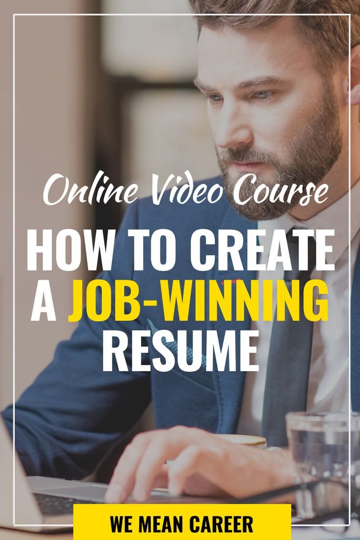 Online course how to write a jobwinning resume in 2020