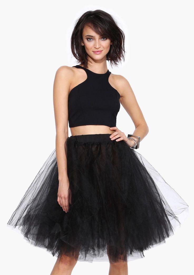 black long tutu- dress it up or down.