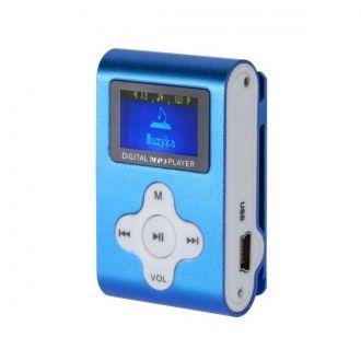 Lekki i przenośny odtwarzacz z wyraźnym wyświetlaczem LCD. Urządzenie nie posiada pamięci wbudowanej, za przechowywanie utworów odpowiada czytnik kart microSD do 32 GB. Urządzenie zostało wyposażone w praktyczny klips umozliwiający zamocowanie odtwarzacza, np. do paska. Urządzenie obsługuje odtwarzanie plików MP3, jest wyposażone w radio FM i dyktafon.  Produkt w kolorze niebieskim.