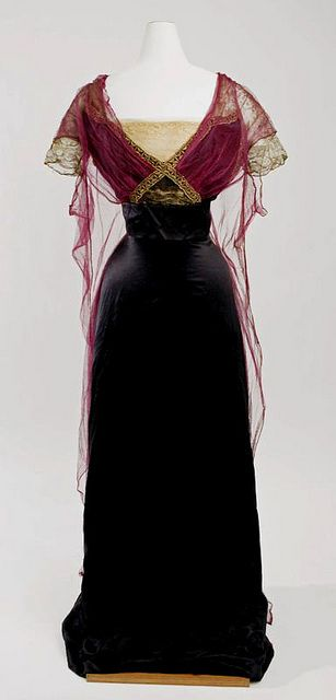 Black and purple evening gown, Paul Poiret, 1912-14