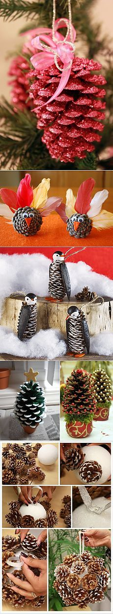 Новогодний декор из шишек | Наш уютный дом