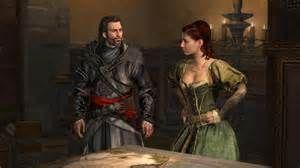 7) Ezio gaat naar de boek handel voor de eerste sleutel daar ontmoet hij Sofia Sartor. Hij vind een doorgang in de haard en na een hele poos door een ondergronds gangenstelsel te dwalen vind hij de eerste sleutel.
