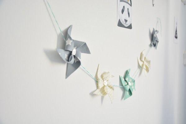 Do It Yourself with CyCy : La guirlande de moulins à vent (Petit cadeau à la fin)   Made By CyCy