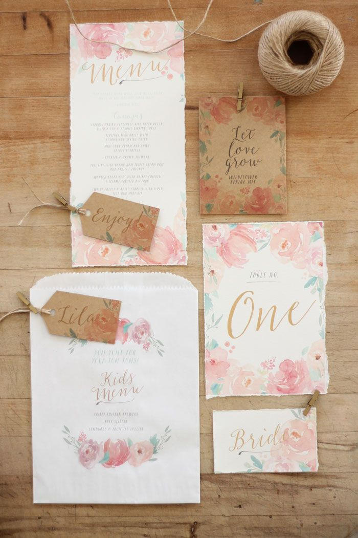 Just My Type Wedding Invitation and Wedding