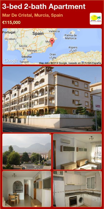 3-bed 2-bath Apartment for Sale in Mar De Cristal, Murcia, Spain ►€115,000