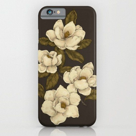Magnolia Flower Floral Pattern iphone case, smartphone