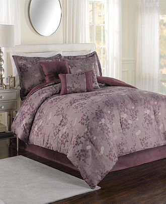 Evening Shade 7 Piece King Jacquard Comforter Set - Bed in a Bag - Bed & Bath - Macy's