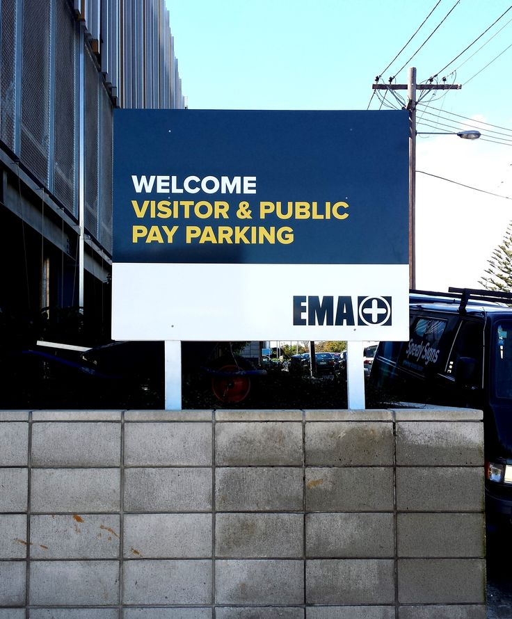 Carpark sign for EMA by Speedy Signs Newton
